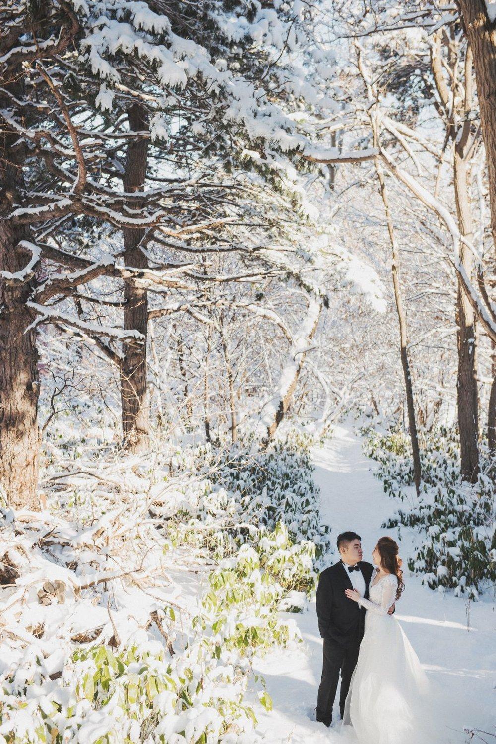 雪地婚紗,北海道雪景婚紗