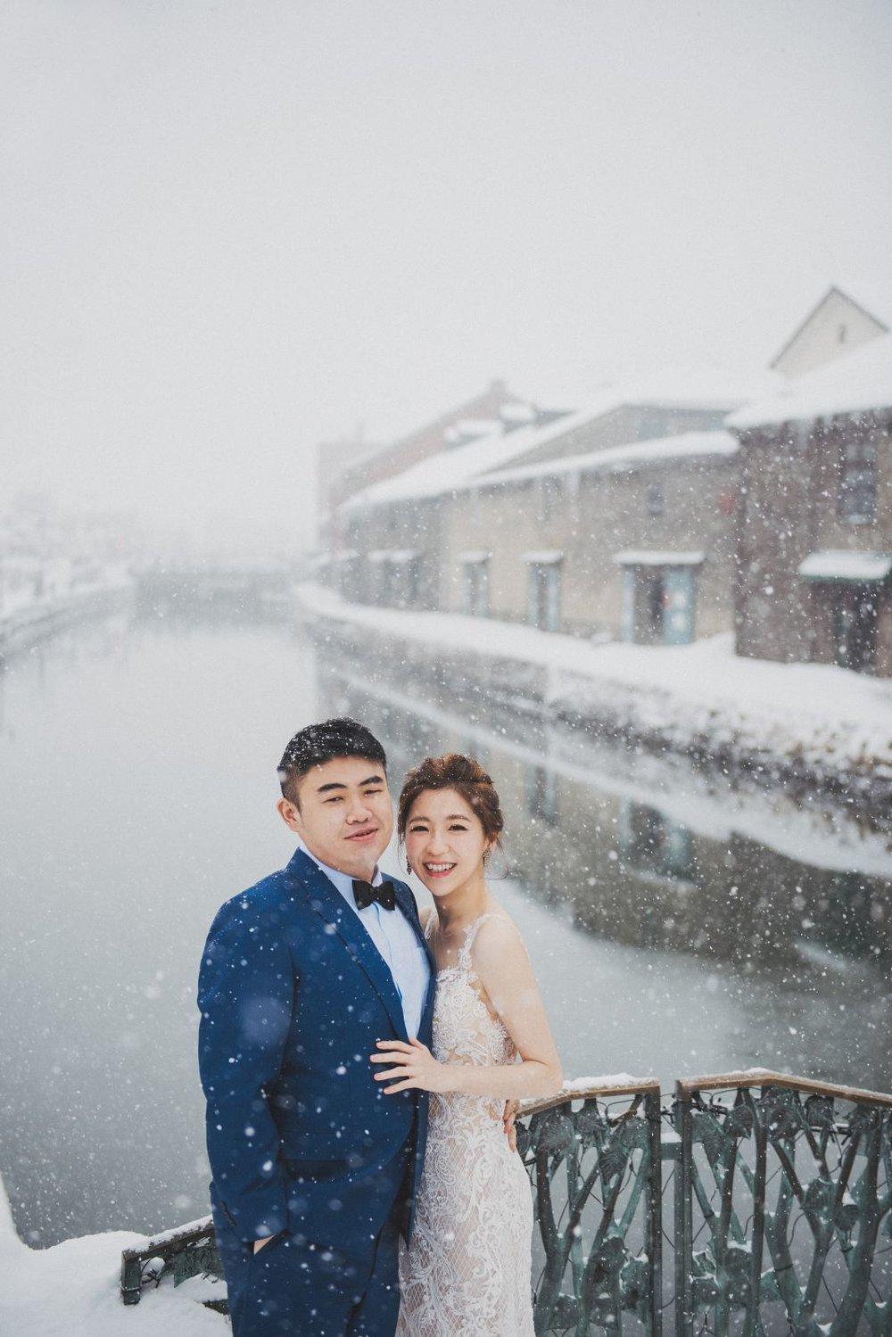 北海道小樽運河婚紗婚禮