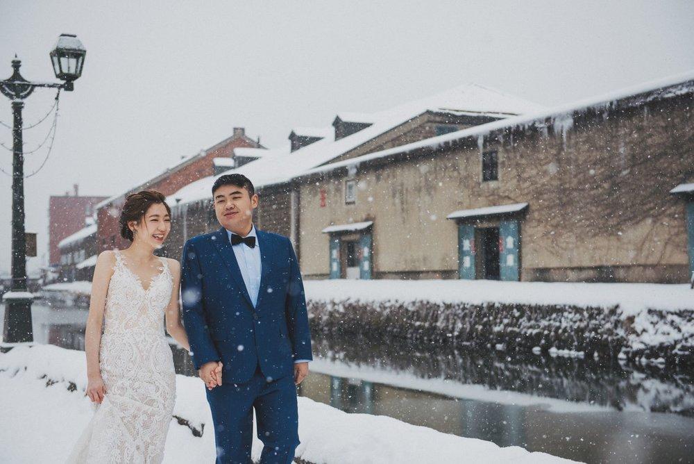 北海道小樽運河,婚紗婚禮,攝影推薦