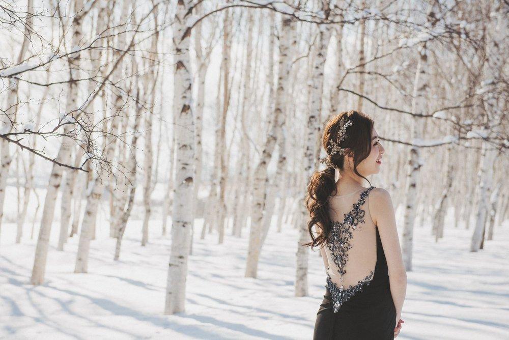 北海道婚紗,北海道禮服造型