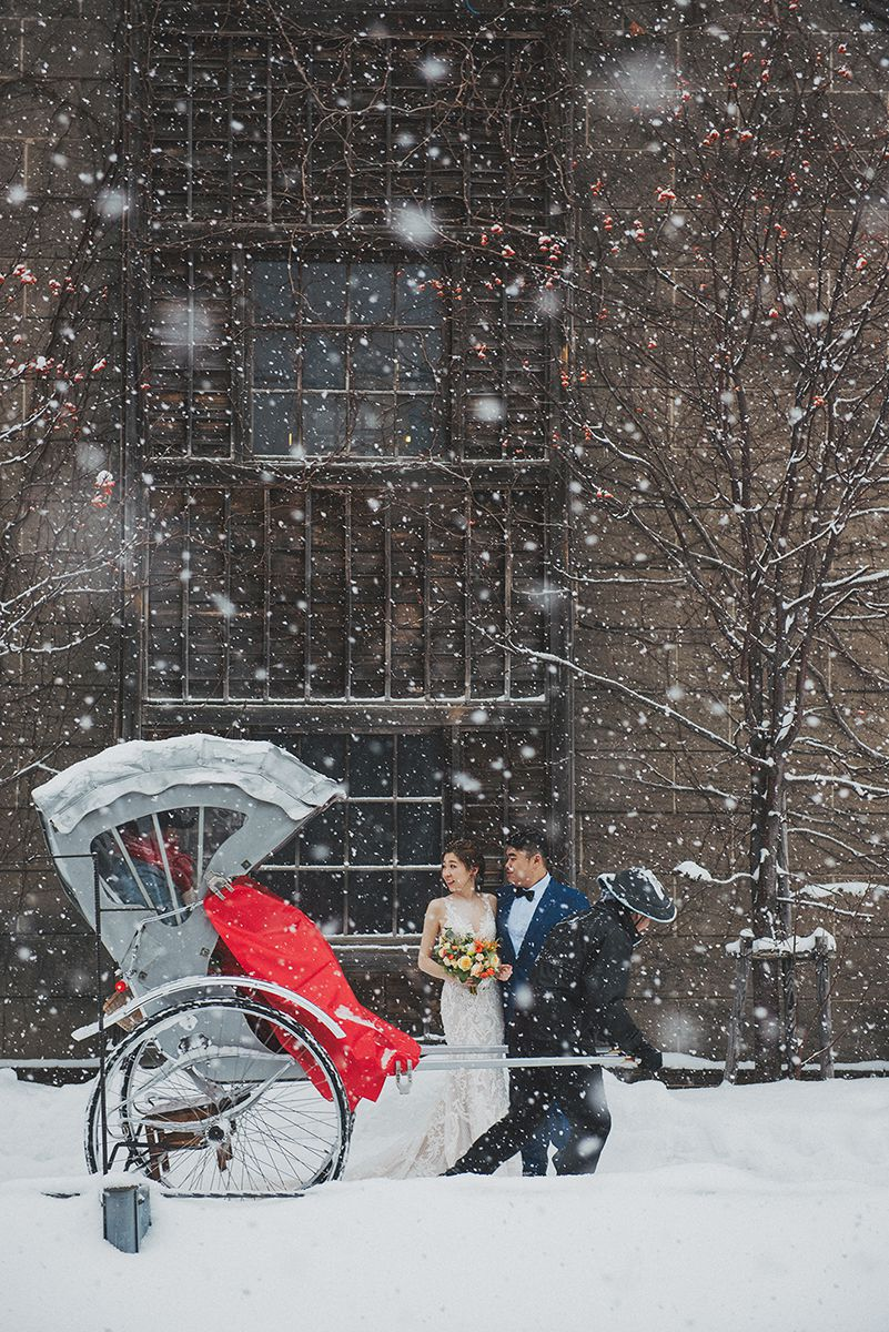 北海道海外婚紗,大雪婚紗