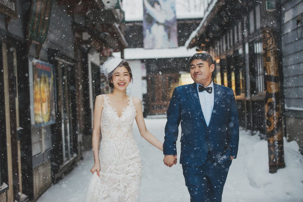北海道婚紗,小樽老街婚紗