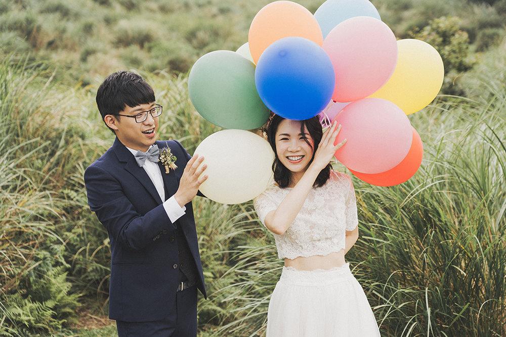 有時山上風大難以控制氣球,從前也發生過一開車門氣球就離家出走的慘案,但都會變成很可愛的回憶。
