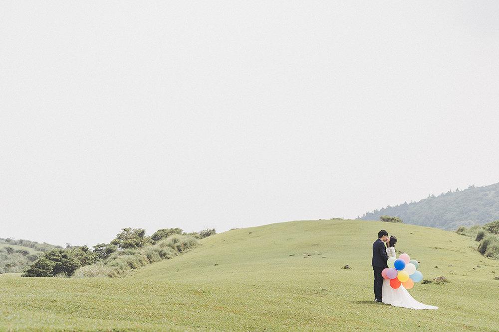婚紗拍攝,婚紗攝影,PURE婚紗,棚拍婚紗,文青風,陽明山,擎天岡