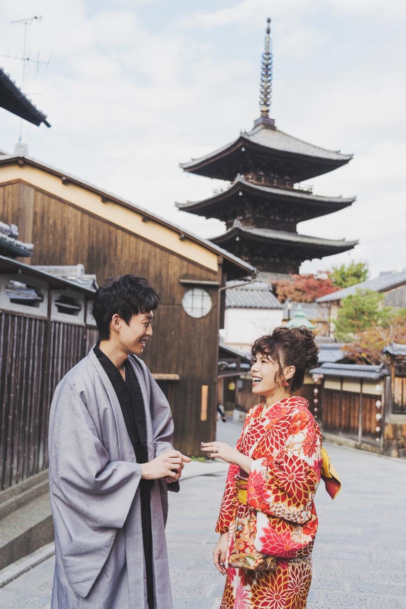 八阪塔前求婚照,purefoto