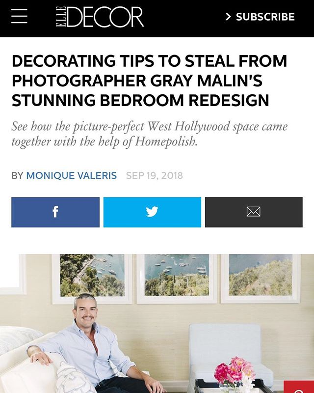 Follow us at @sloane_and_studio and @shanabydesign to stay up to date on the latest press, projects, design tips, and more! Thank you @elledecor for our latest feature. Still ecstatic. Click the link in our bio to read the full article.