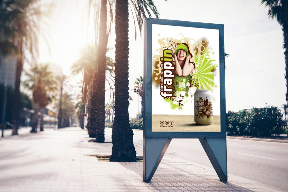 Frappin outdoor ad