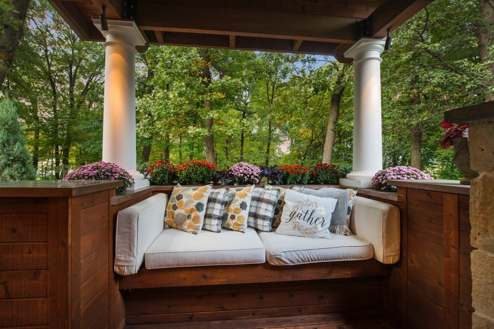 Mom's Design Build - Backyard Outdoor Couch on Deck