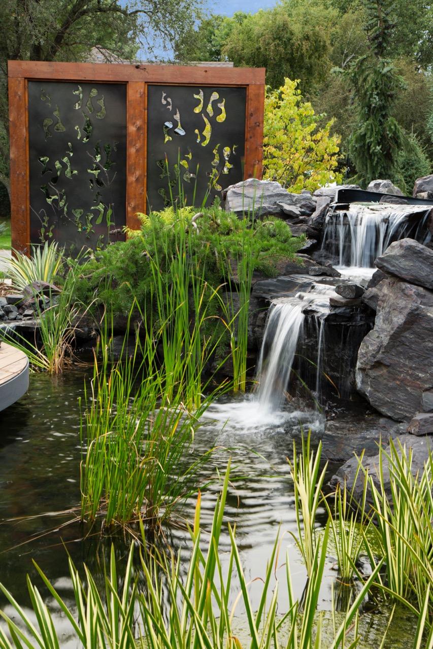 Mom's Design Build - Pond Garden Design