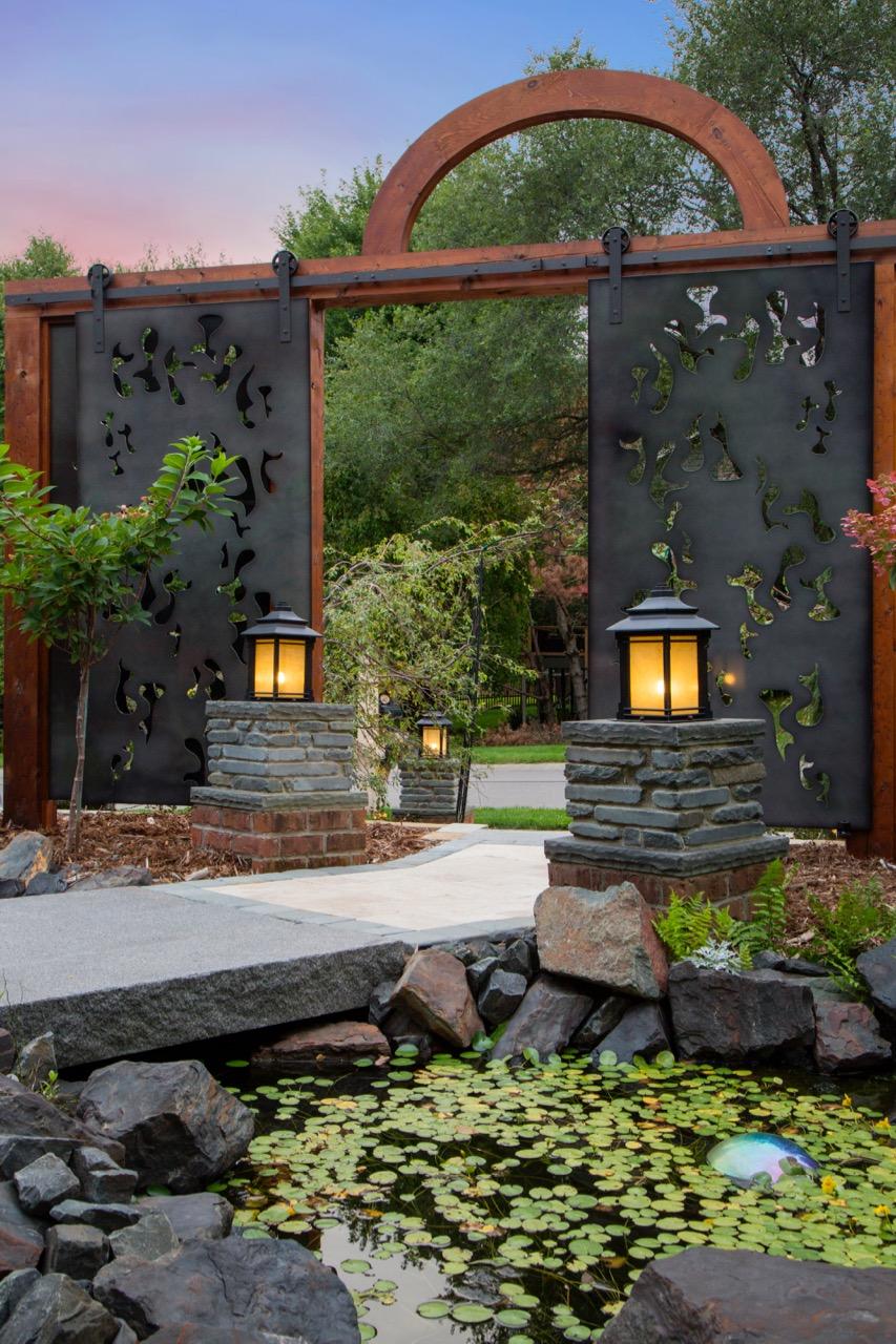 Mom's Design Build - Modern Contemporary Pond Design