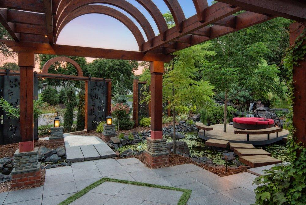 Mom's Design Build - Front Yard Landscape Design Modern Furniture
