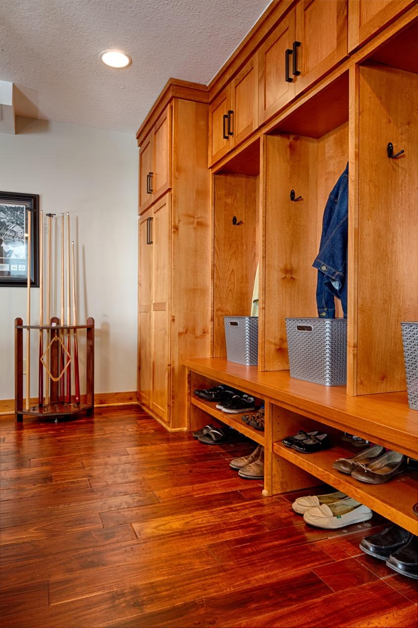 Mom's Design Build - Minnetonka Basement Closet Locker Cubby