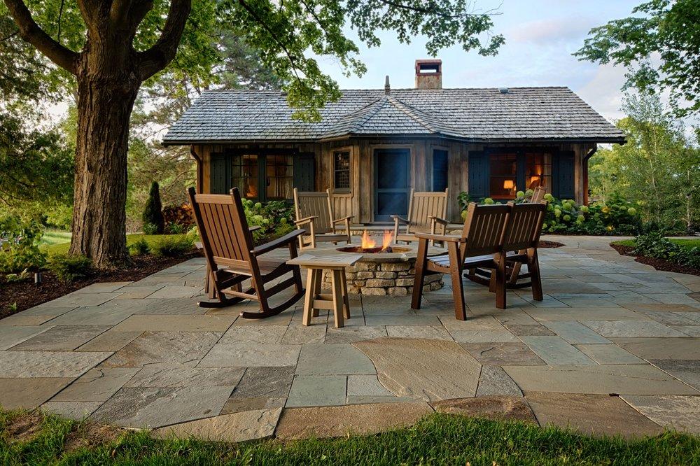 Mom's Design Build - Natural Stone Campfire Furniture