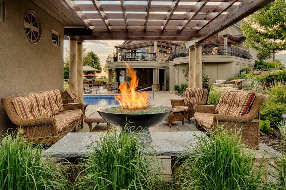 Moms Design Build - Fire Bowl Pool House