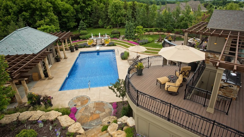 Moms Design Build - Custom Pool Surround Concrete landscape