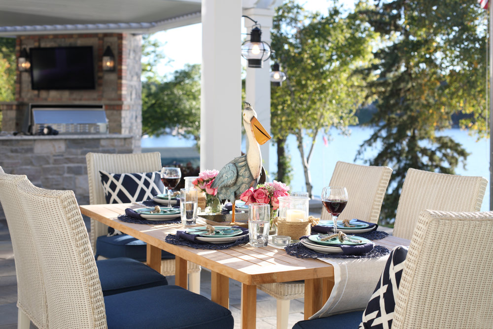 Mom's Design Build - Outdoor Dining Table Lake Minnetonka
