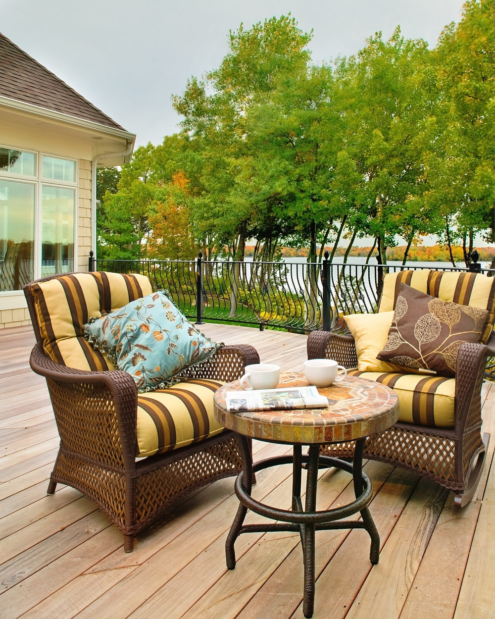 Moms Design Build - Hardwood Deck Lake Minnetonka