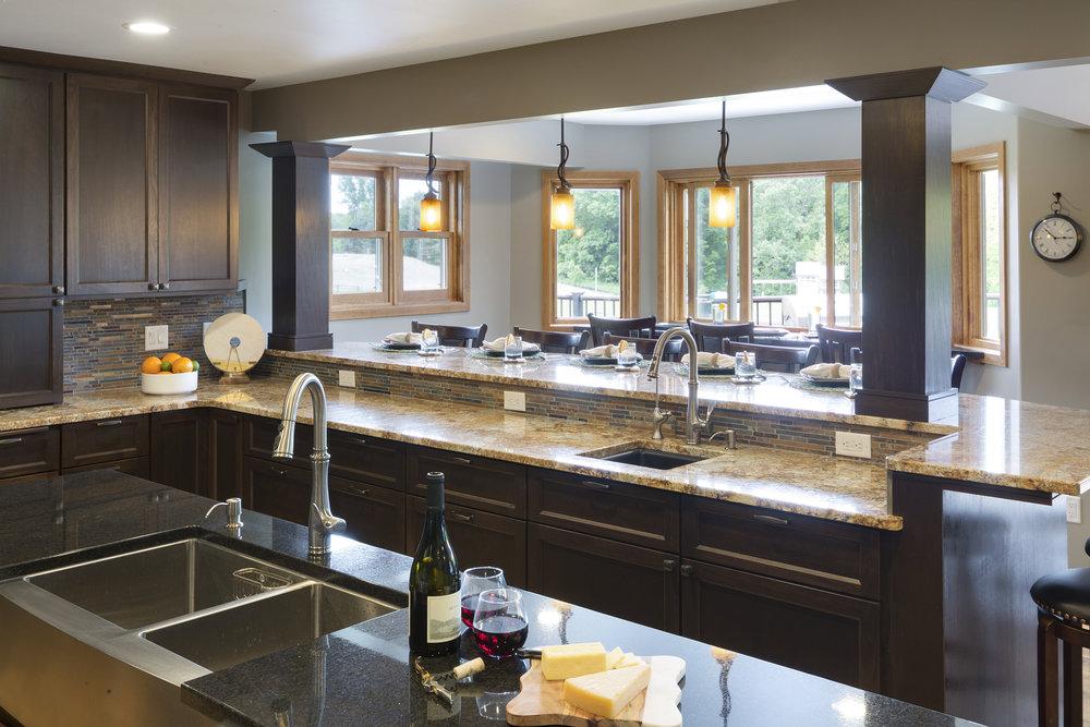 Mom's Design Build - Interior kitchen farm sink remodel