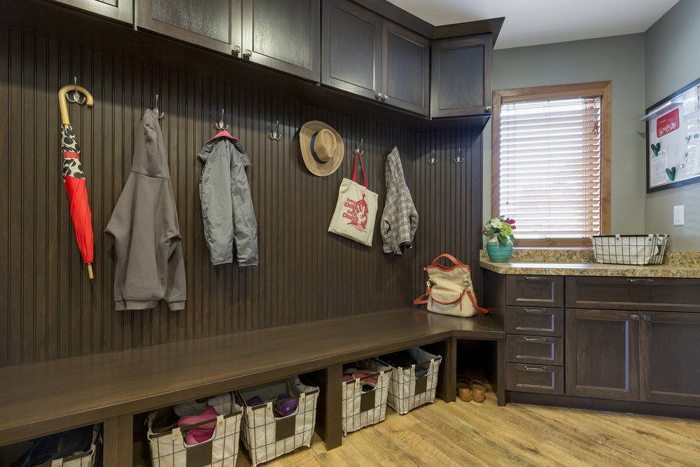 Mom's Design Build - Interior mudroom storage solutions