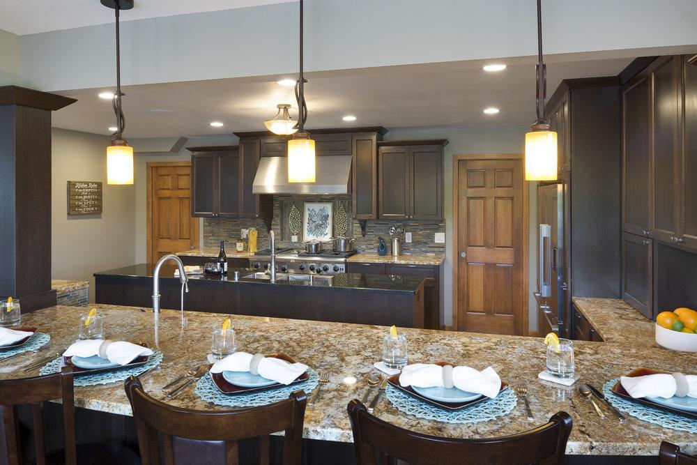 Mom's Design Build - Interior kitchen cabinet remodel