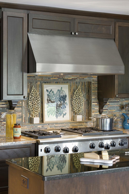 Mom's Design Build - Modern Kitchen Stovetop Hood