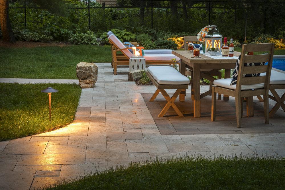 Mom's Design Build - Modern Porcelain Tile Outdoor