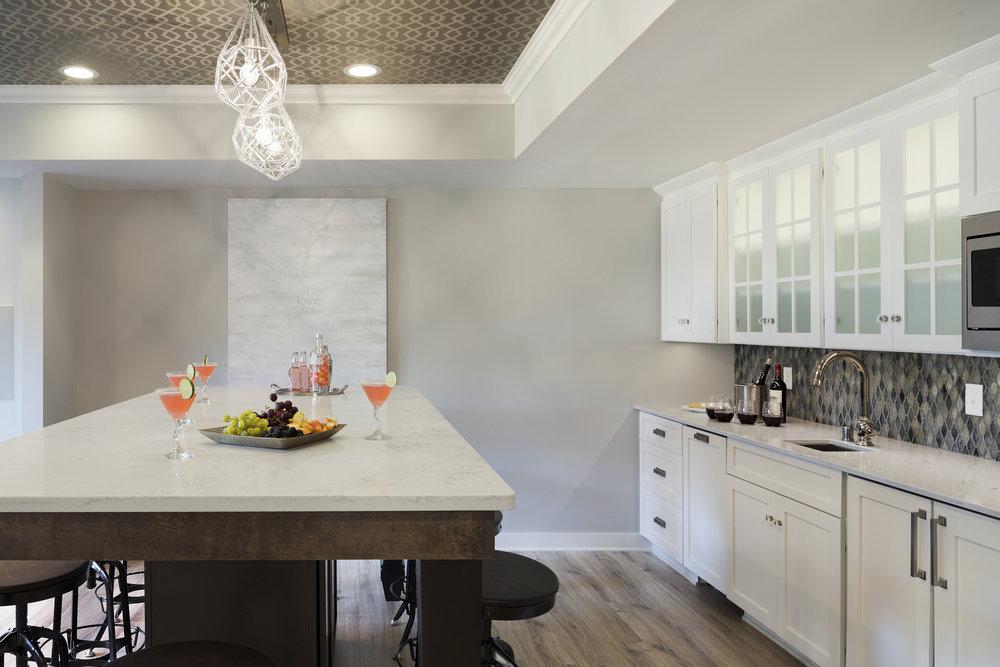 Mom's Design Build - Interior Remodel Basement Wet Bar Kitchen