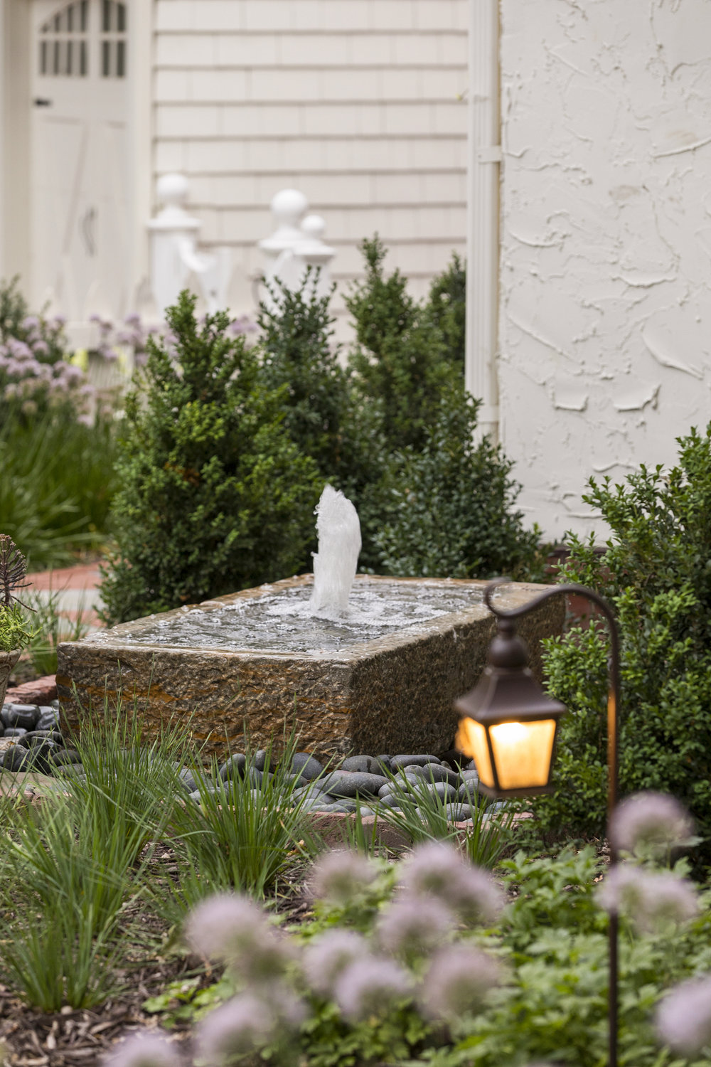 Mom's Design Build - Outdoor Bubbling Water Feature
