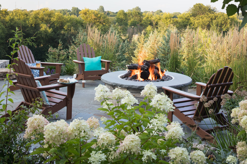 Mom's Design Build - Outdoor Natural Gas Firepit