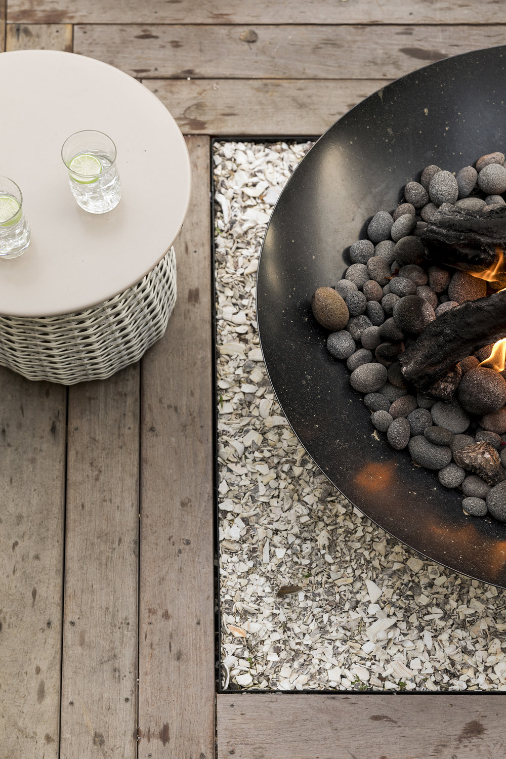 Mom's Design Build - Natural Gas Fire Bowl