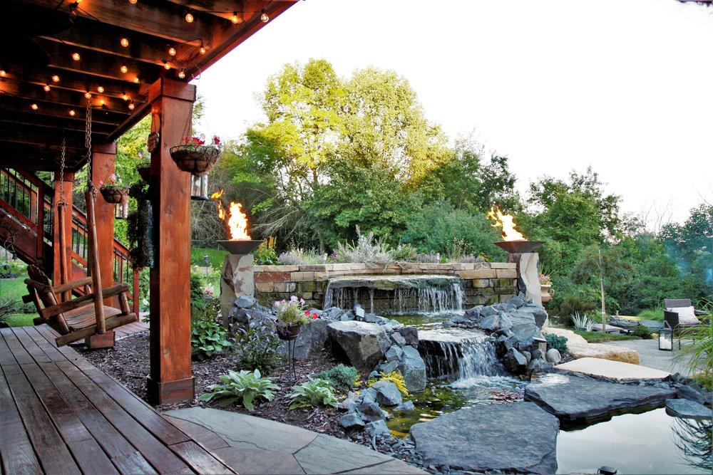 Moms Design Build - Pond Landscape Remodel