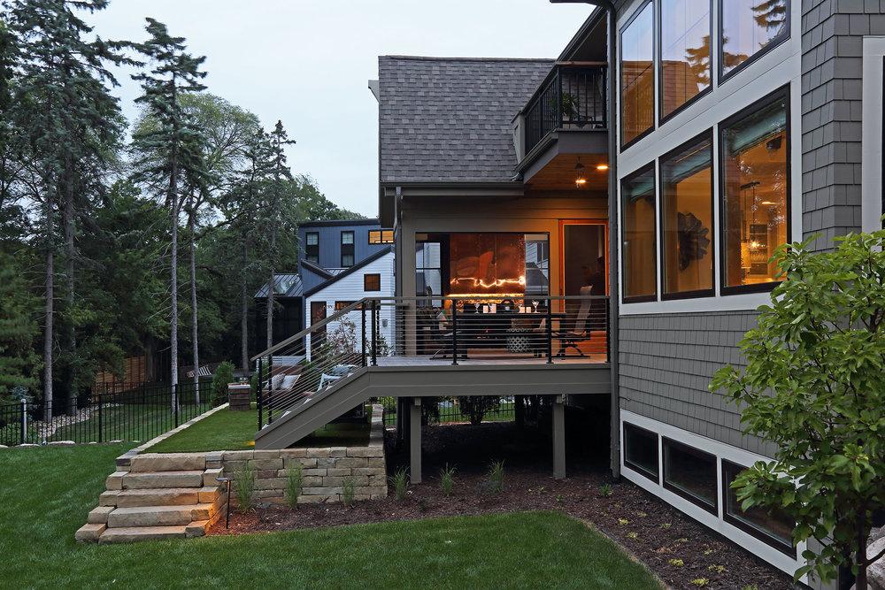 Mom's Design Build - Three Season Porch synthetic grass
