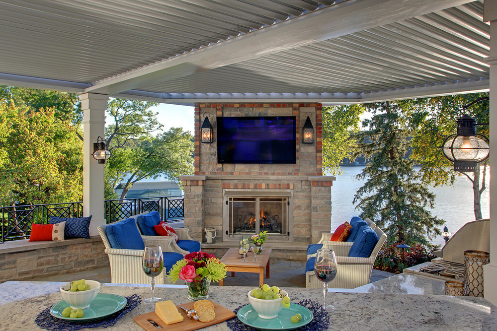 Mom's Design Build - Lake Minnetonka outdoor living space