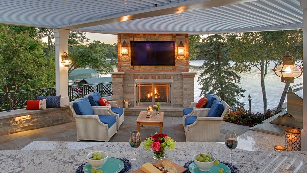 Mom's Design Build - Lake Minnetonka outdoor bar kitchen countertop