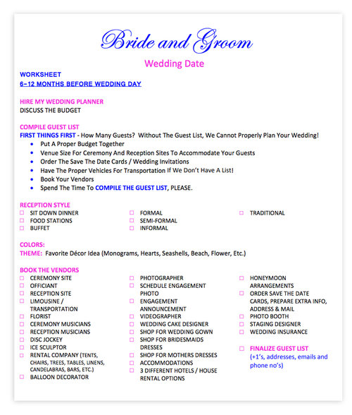 Wedding Checklist  Delmarva Bridal Show