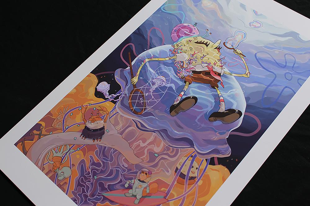 Spongebob squarepants poster print art