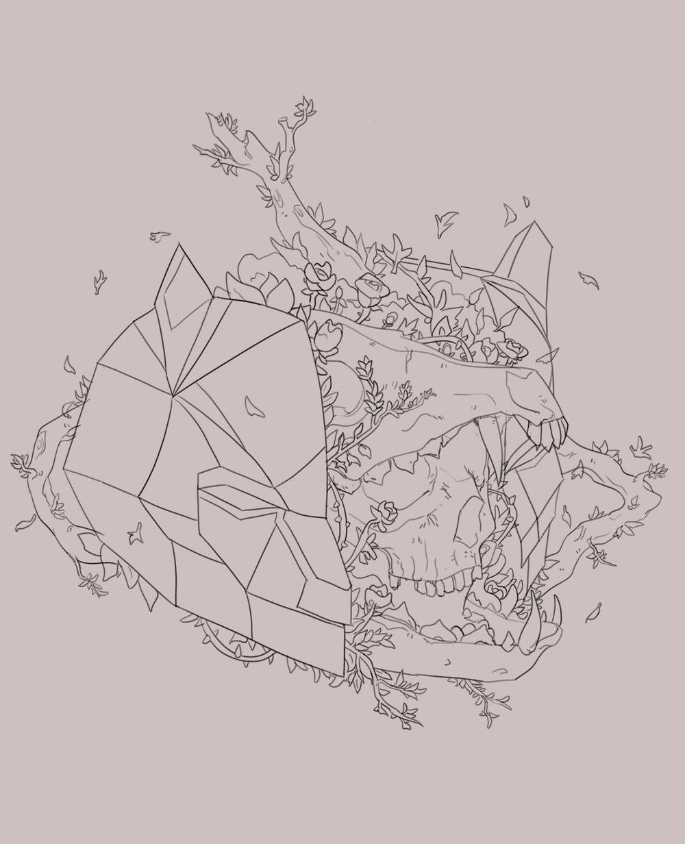 ephemeral complex line art