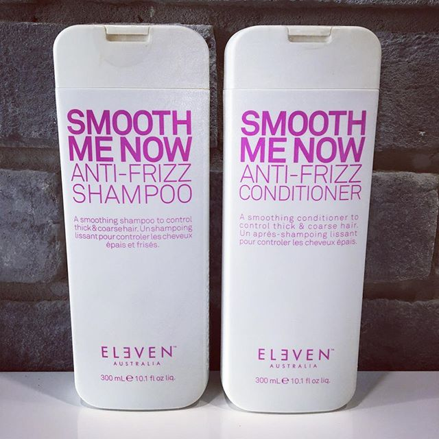 SMOOTH ME NOW 💗 Anti Frizz Shampoo + Conditioner! A smoothing shampoo to control thick & coarse hair! 💃🏼 Did we mention they are $25 each? . . . #smoothingshampoo #antifrizz #elevenaustralia #hair #shampoo #yegsalon #sprucegrove #yeghair #salonproduct
