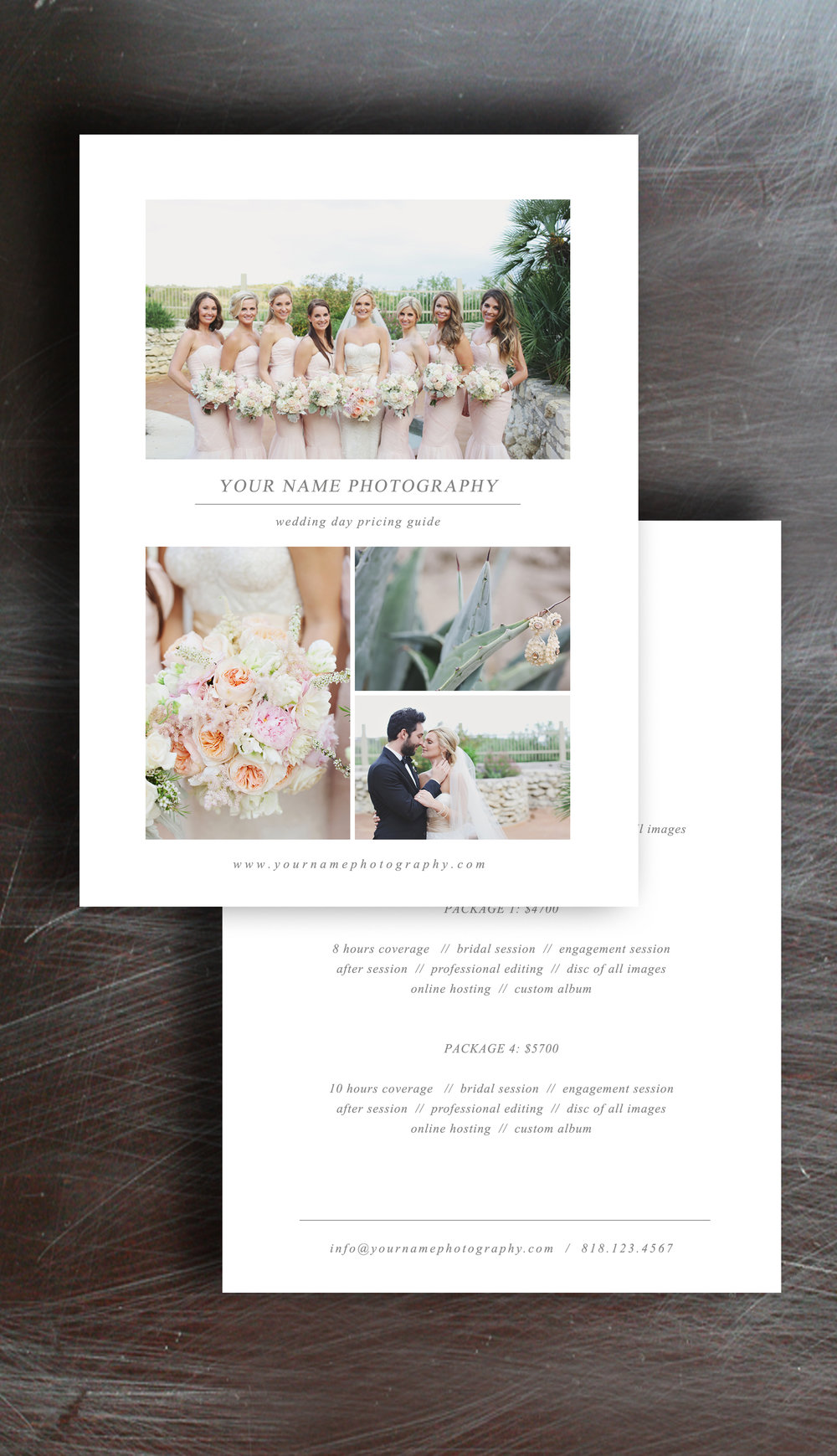 Beautiful Free Photographer Pricing Guide Template ZX66