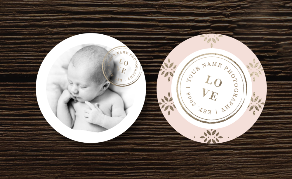 Newborn Photography Sticker Template