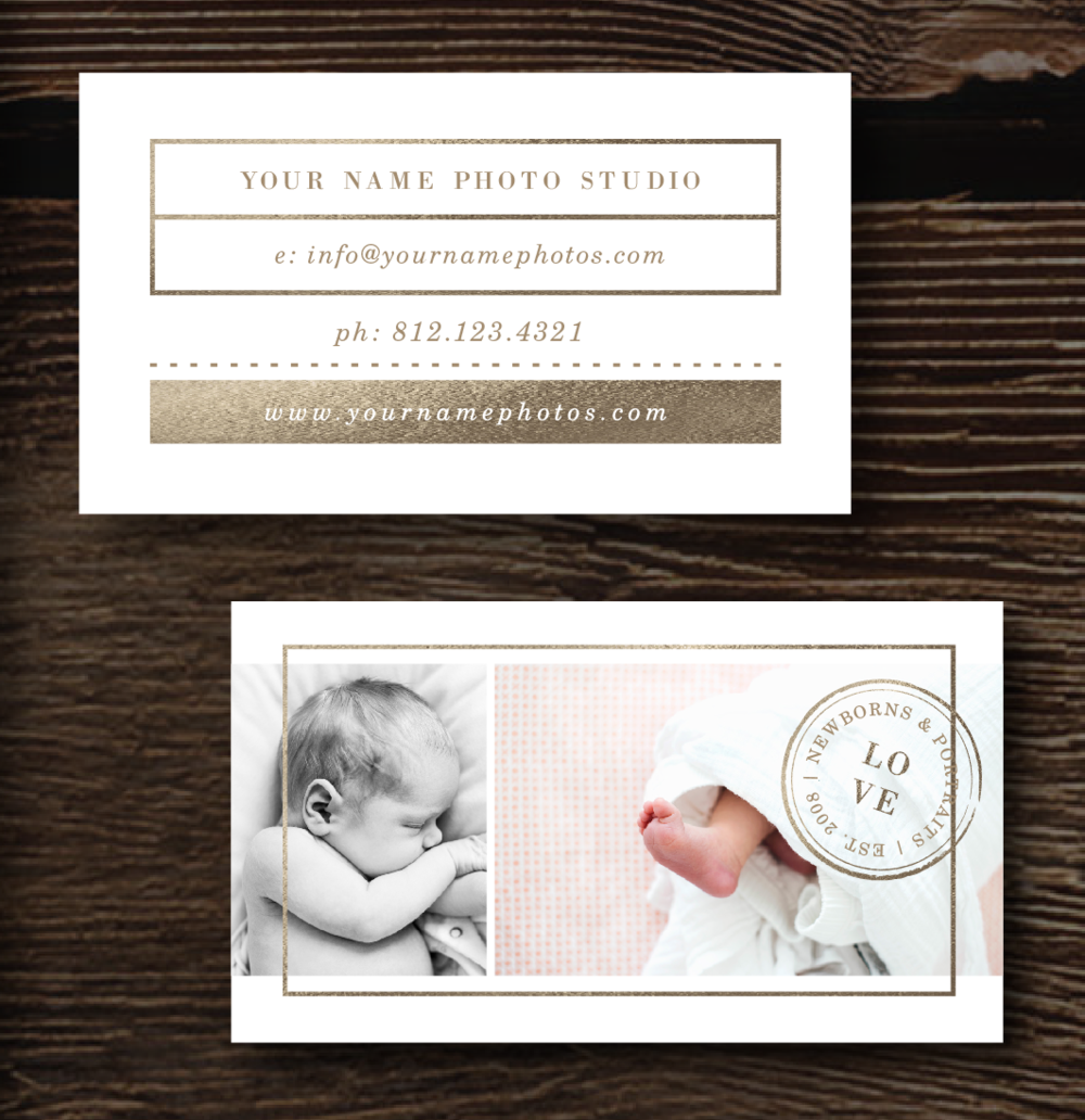 Newborn Photography Business Card Template