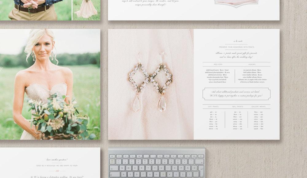 Wedding photography magazine template eucalyptus junglespirit Images