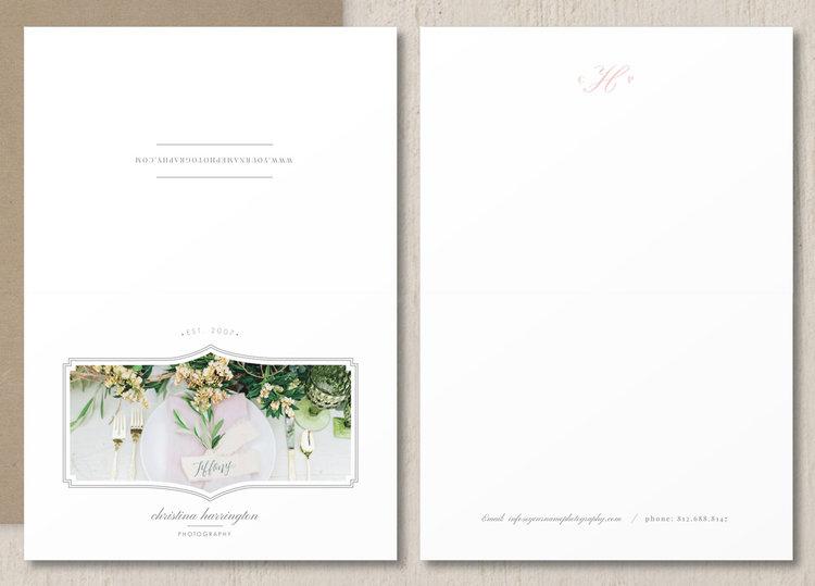 Photography Thank You Card Template Eucalyptus