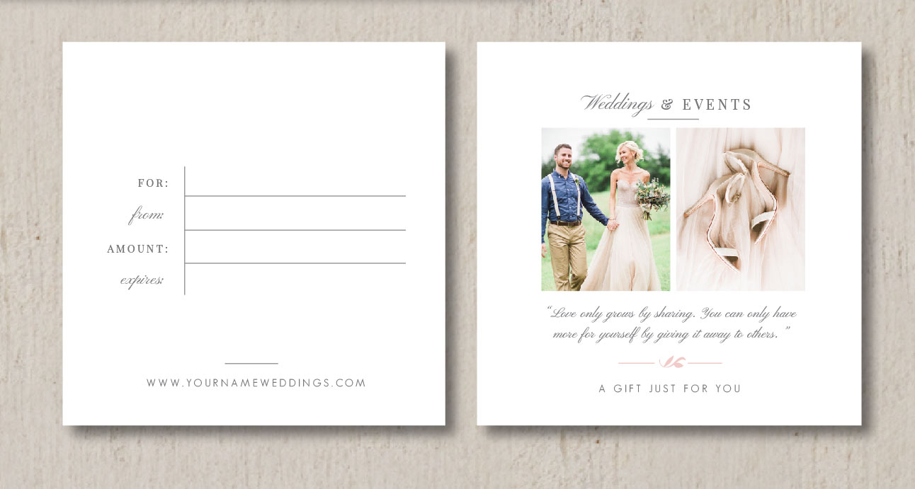 Wedding Professional Gift Card Template Eucalyptus – Gift Cards for Weddings