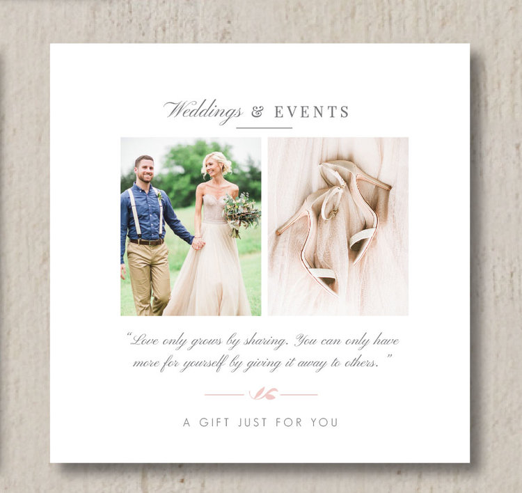 Wedding Professional Gift Card Template  Eucalyptus