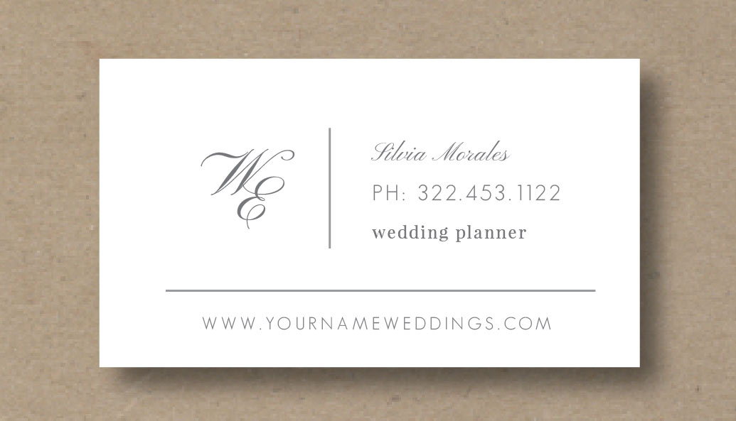 Business card template for wedding planners eucalyptus fbccfo Choice Image