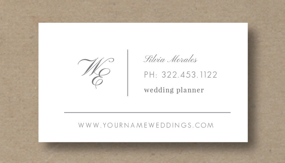 business card template for wedding planners eucalyptus - Wedding Planner Business Cards