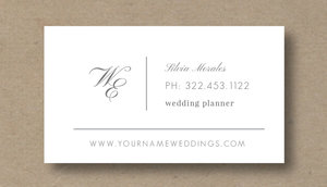 Business Card Template For Wedding Planners Eucalyptus - Wedding business card template