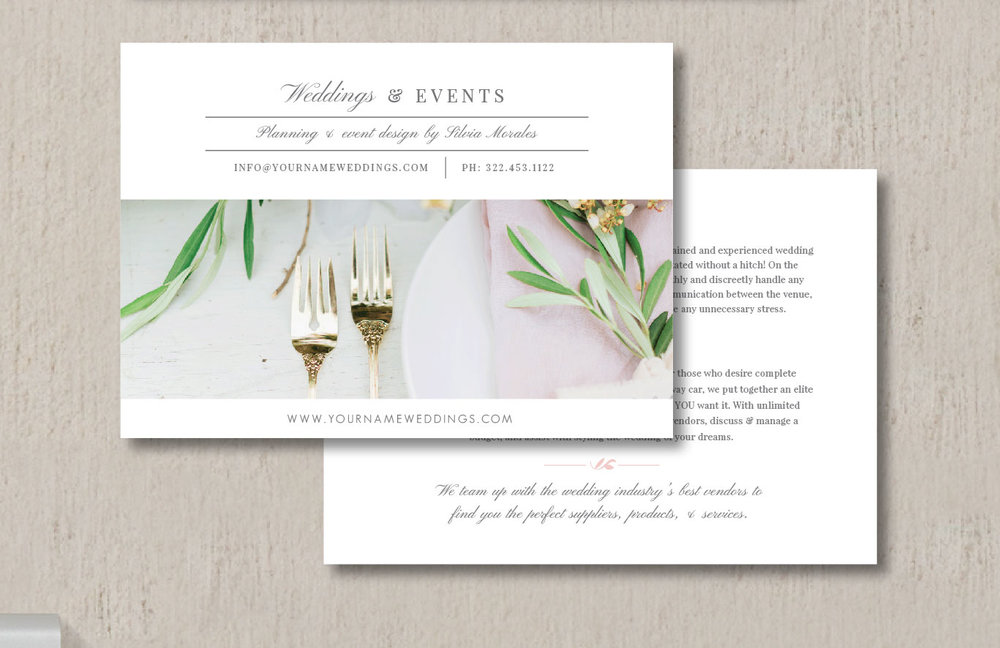 Wedding Marketing Flyer Template Eucalyptus
