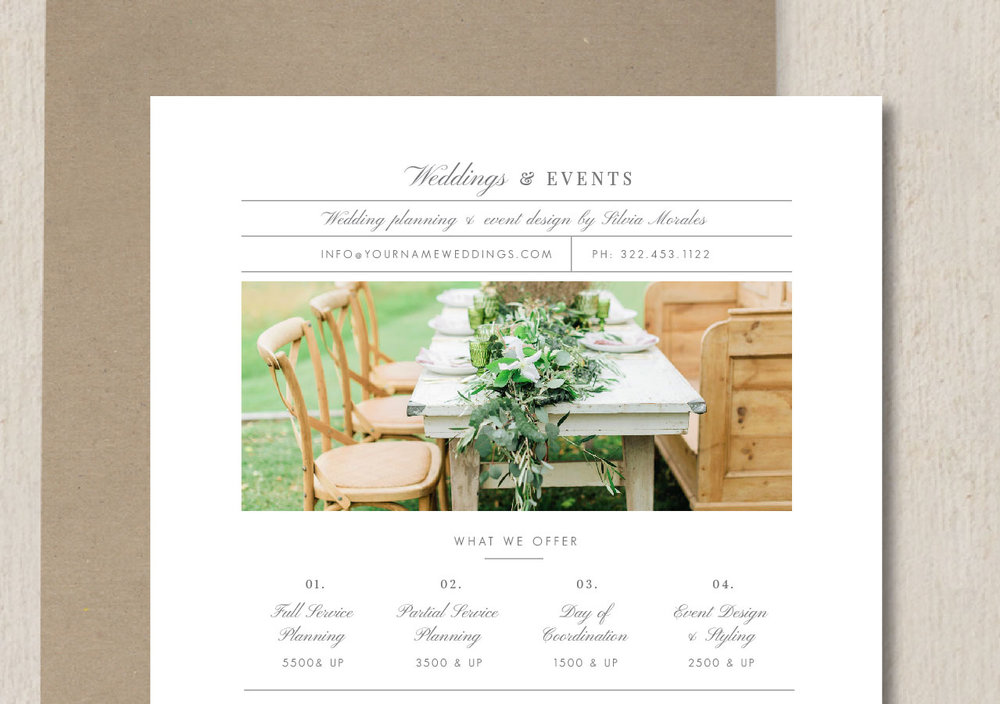 Wedding Planner Pricing Guide Template